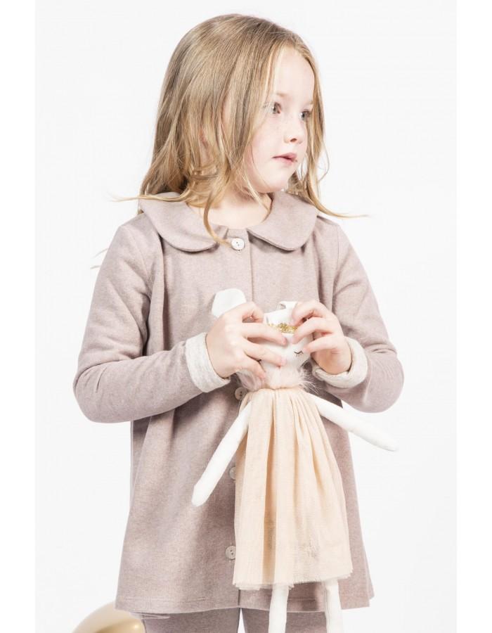 Giacca caldo cotone rosa antico con colletto Ninì Kidswear