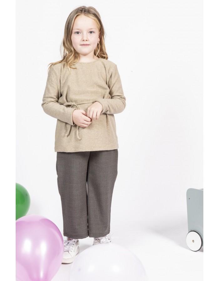 Maglietta maniche lunghe tortora Ninì Kidswear