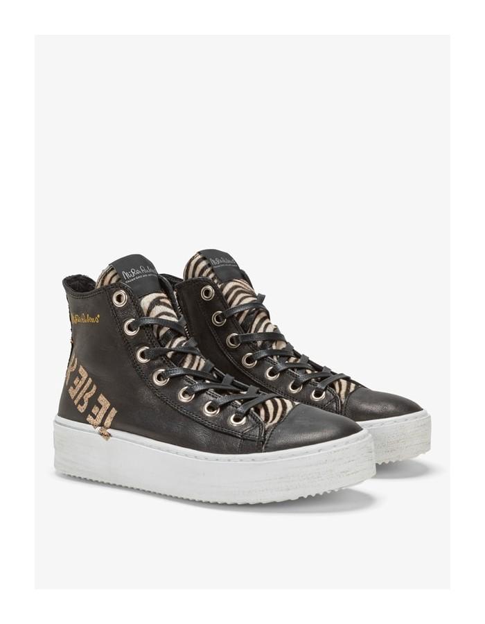 Nira Rubens - Sneaker Long Island Rebel Black Zebrina Glitter