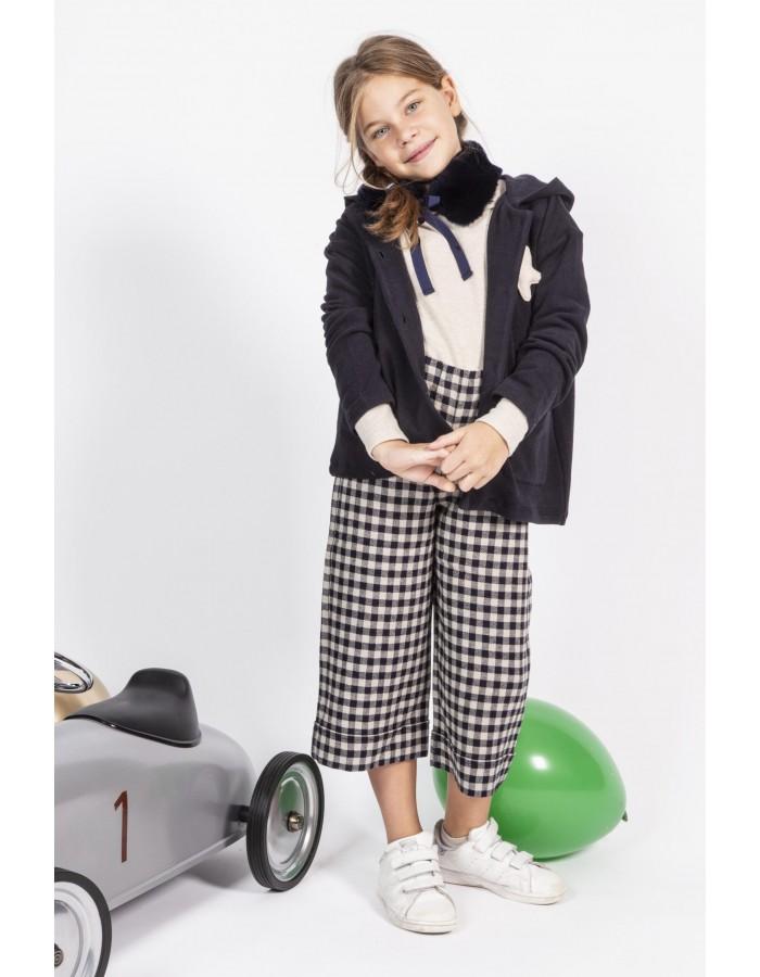 Giacca in caldo cotone blu Ninì Kidswear