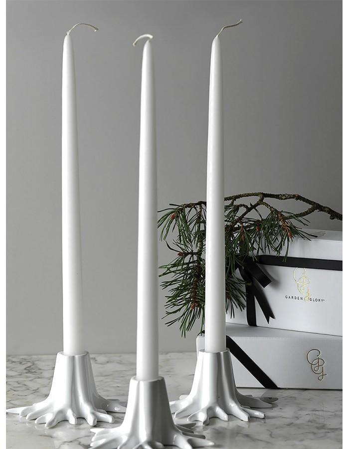 "Candle Holder ""Mini Root"" – Crème White"