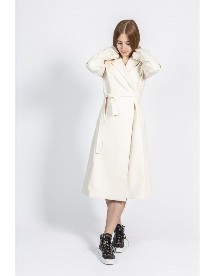 Souvenir - Cappotto lungo modello vestaglia colore ghiaccio
