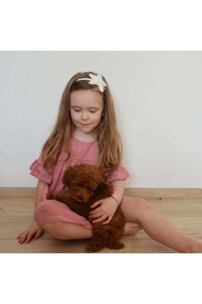 Nini' Kidswear - Vestito righe rosso