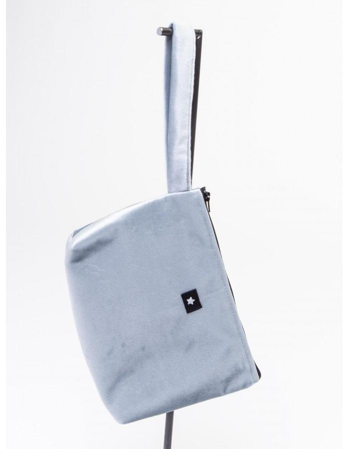 Rever - Pochette  L.Bag in tessuto Stellina colore Azzurro cielo