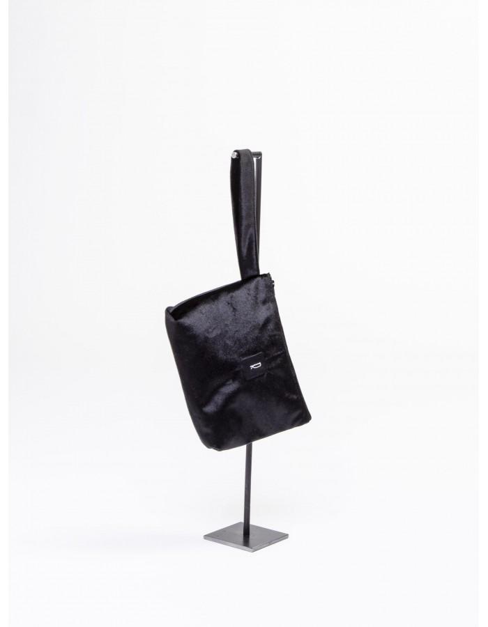 """Rever - Pochette L. Bag in tessuto iniziale  """" R """" colore Nero"""