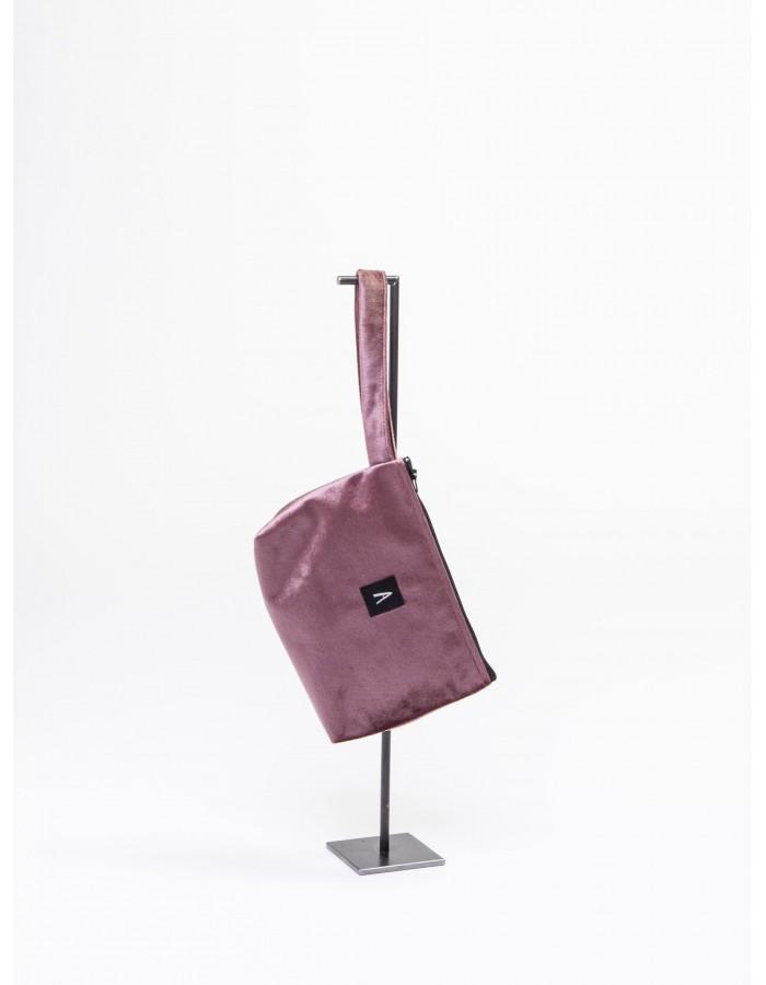 """Rever -Pochette L.Bag in tessuto iniziale """" A """" colore Rosa Antico"""