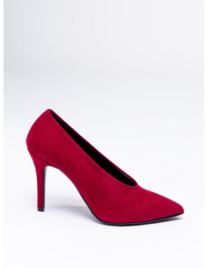 Ovye' - Decollete camoscio colore Rosso