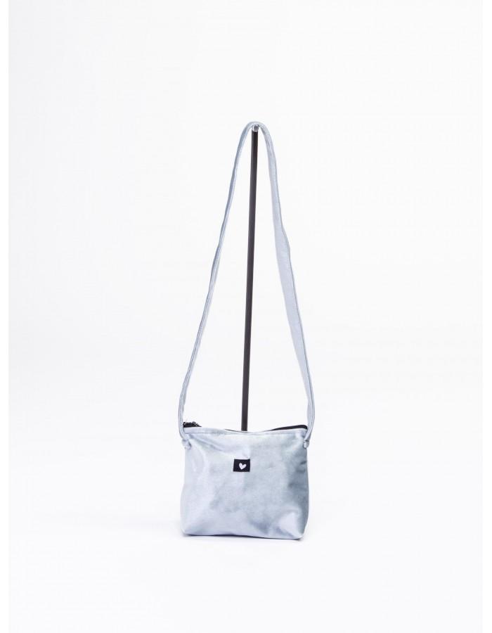 Rever - Pochette L.Bag in velluto simbolo cuore colore azzurro cielo