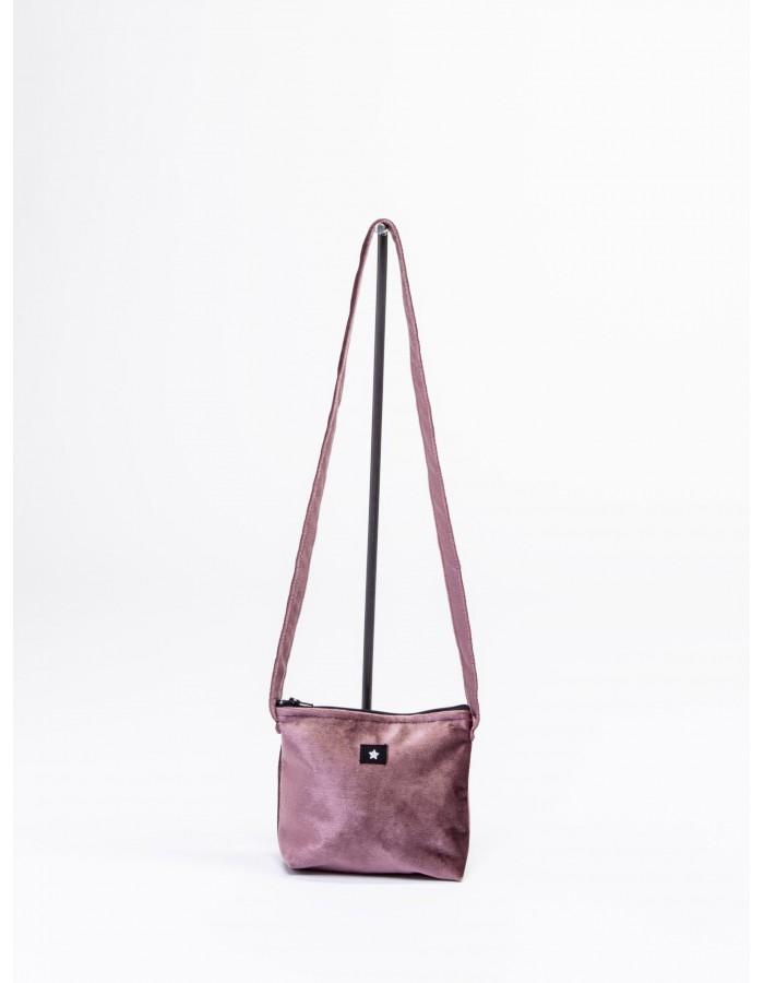 Rever - Pochette L.Bag in velluto simbolo stellina Colore Rosa Antico