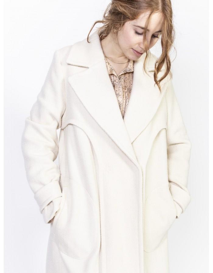 Beatrice B. - Cappotto In Lana e cotone colore Burro