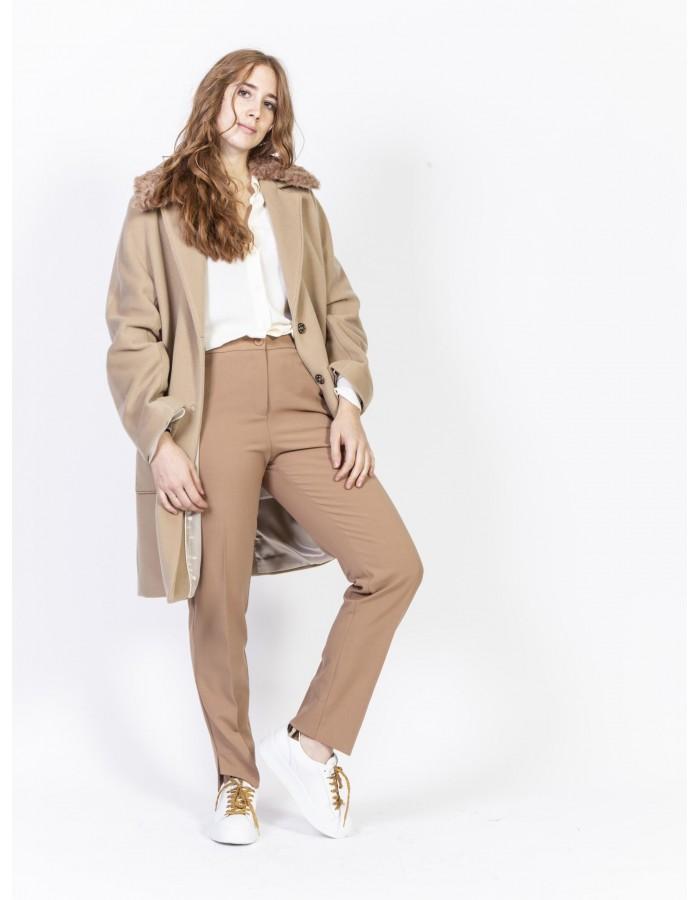 Beatrice b - Pantaloni in tessuto colore Cammello