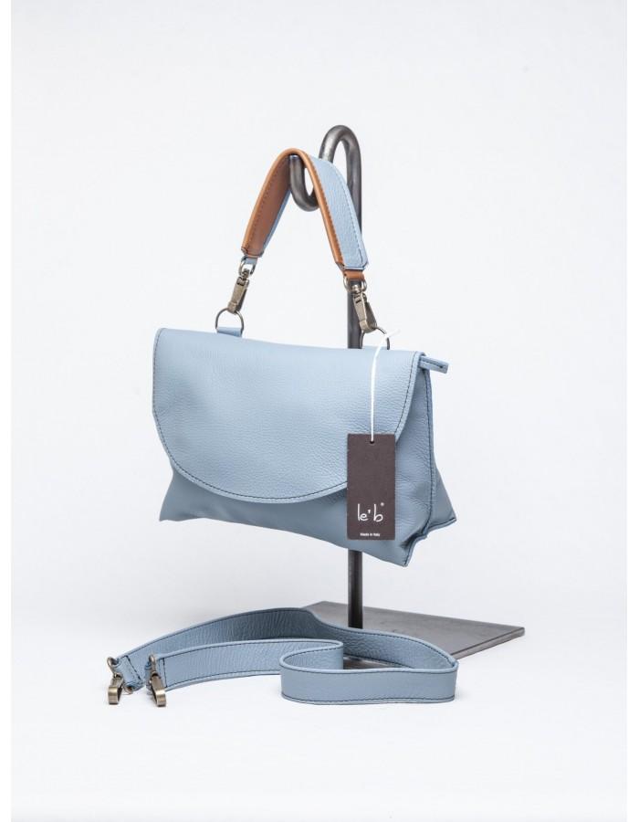 le' b. - Cartella Luigia Mini Azzurra manico bicolore