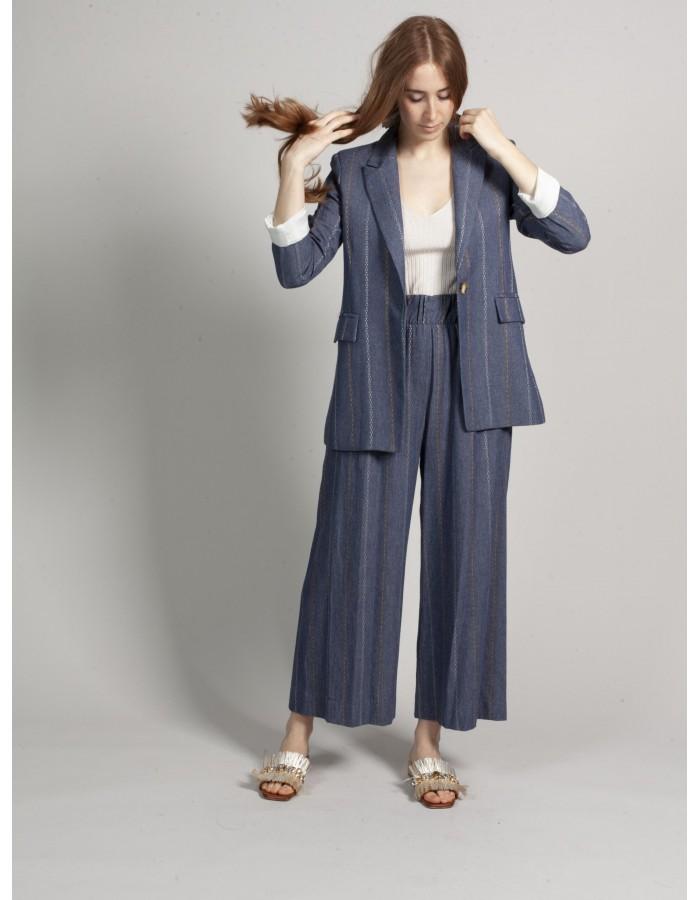 Souvenir - Pantalone culotte chambray