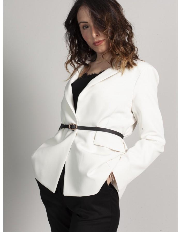 Souvenir - Blazer bianco con cintura