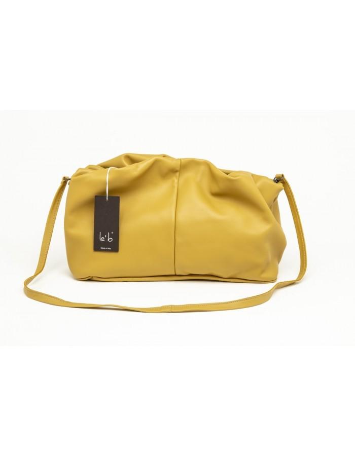 Borsa in pelle modello Stella gialla