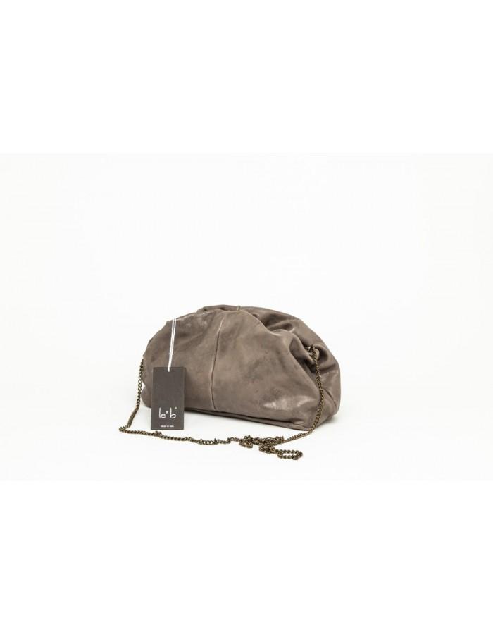 Borsa in pelle modello Stella Mini grigio marrone