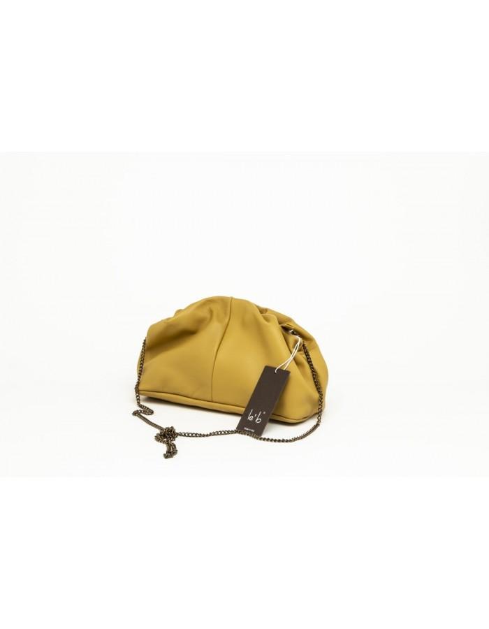 Borsa in pelle modello Stella Mini giallo