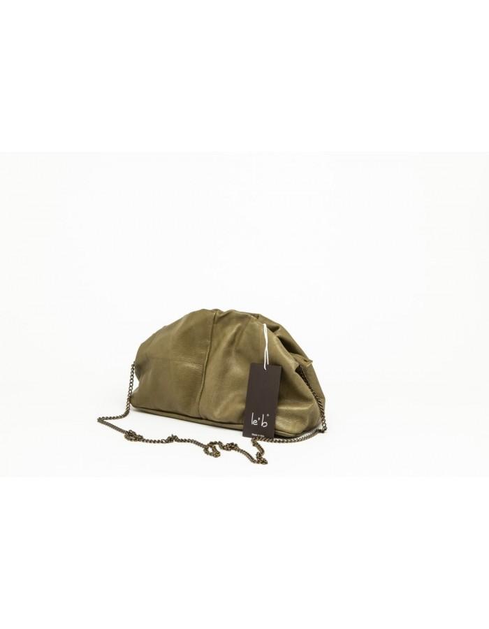 Borsa in pelle modello Stella Mini verde oliva