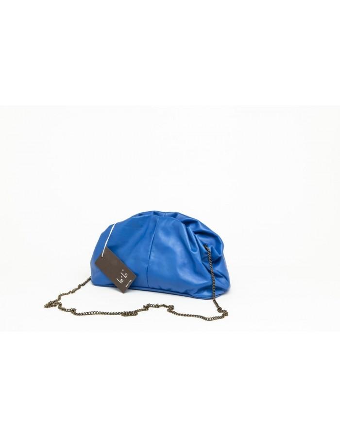 Borsa in pelle modello Stella Mini bluette