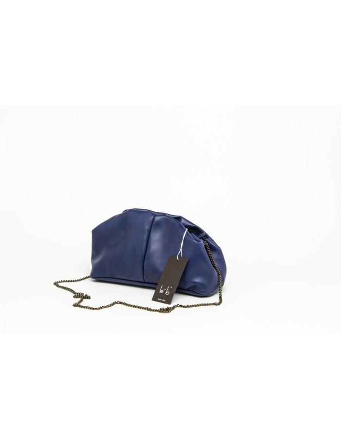 Borsa in pelle modello Stella Mini blu notte