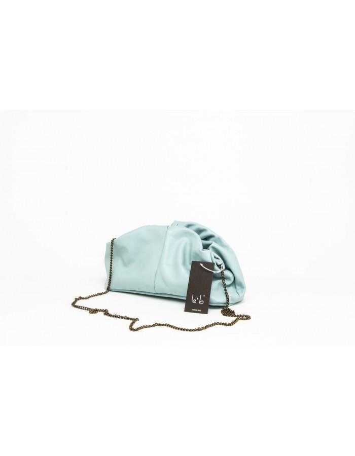 Borsa in pelle modello Stella Mini azzurro cielo