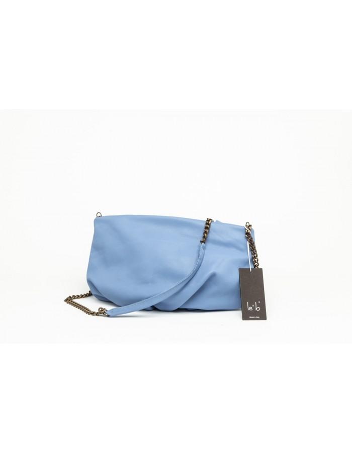 Borsa in pelle modello Camilla colore azzurro