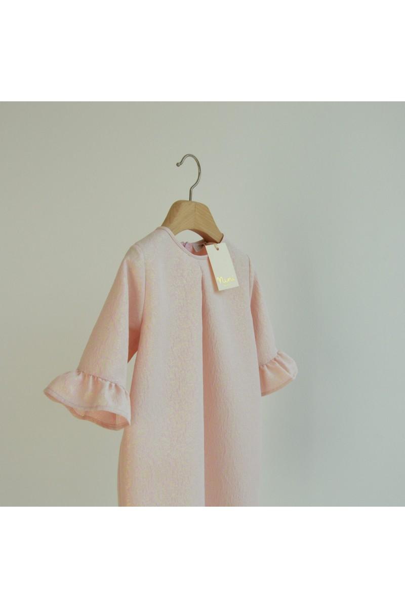 Nini' Kidswear - Abito rosa con brilli in lurex