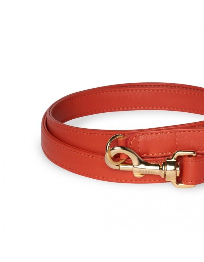 Guinzaglio in pelle rossa scarlatto Perro Collection