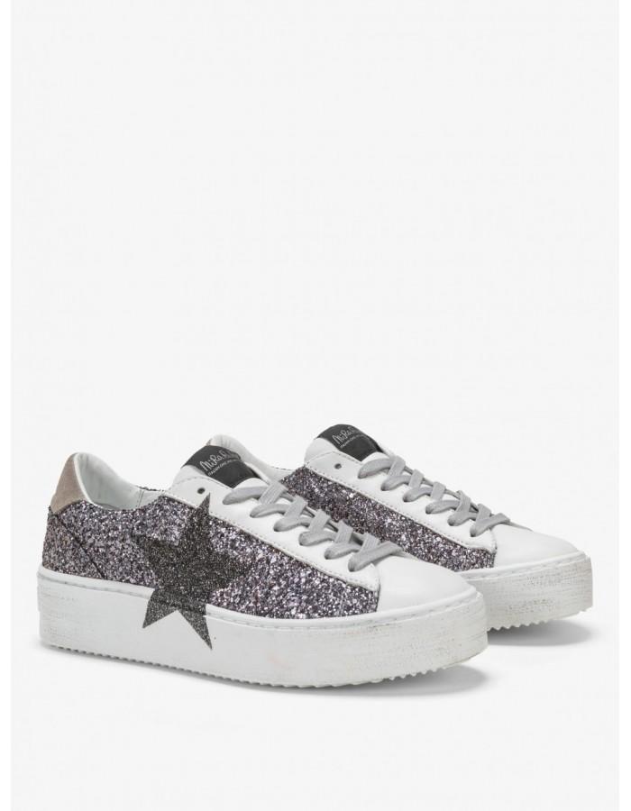 Nira Rubens Sneakers Cosmopolitan Glam Grey - Stella Glitter