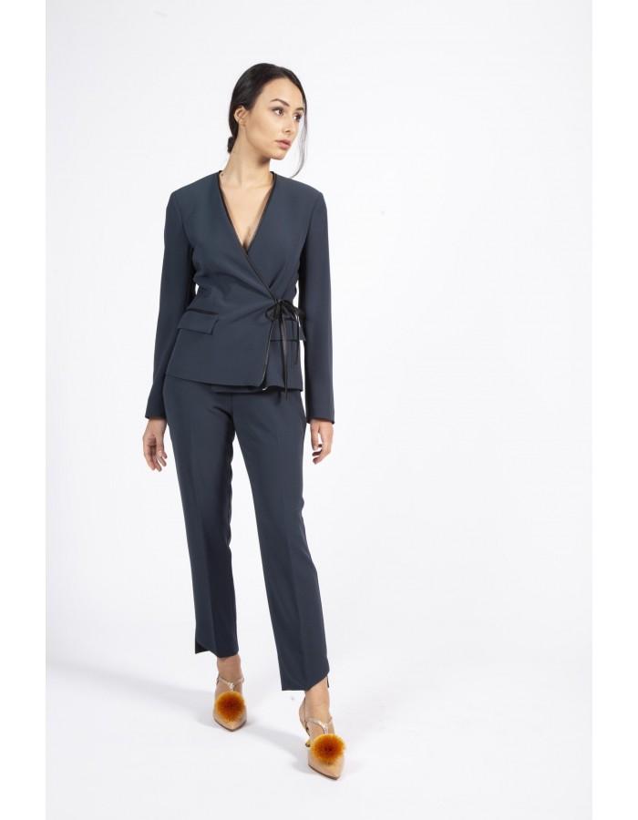 Pantalone ottanio vestibilità skinny Beatrice B.
