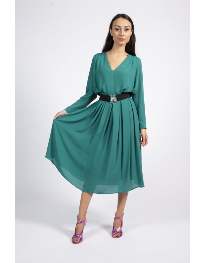 Souvenir - Abito lungo verde smeraldo